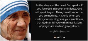 mother theresa - silence