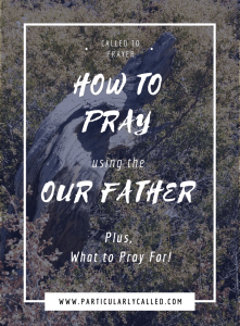 Our Father, How to Pray, What to Pray for