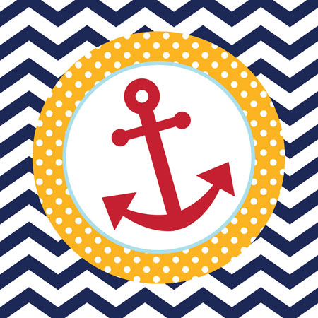 Ahoy Matey Anchor Lunch Napkins 16pk Parties4Kids