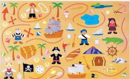 Pirate Treasure Map Sticker Scene 12pk Parties4kids
