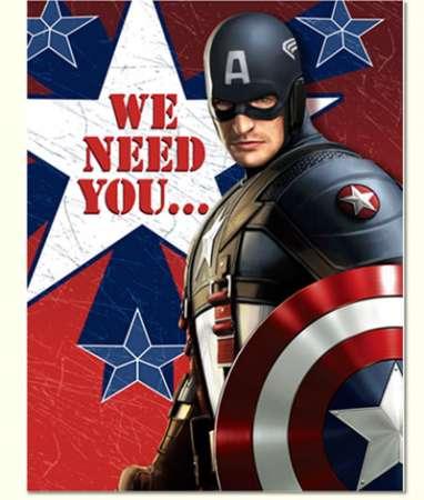captain america avenger party invitations 8pk