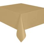 Kullan At altın renkte plastik masa örtüsü