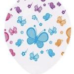 """Bir pakette 25 adet şeffaf balona renkli baskı 12"""" (36cm) balon yer alır. Kelebek motiflidir. Helyum gazı ile şişirterek uçan balon yaptırmak isterseniz mağazalarımızla irtibata geçebilirsiniz."""