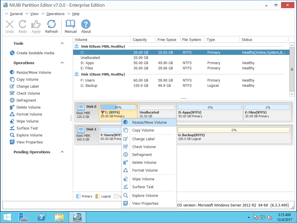 How To Resize C Drive In Windows Server 2012 R2 With Ease