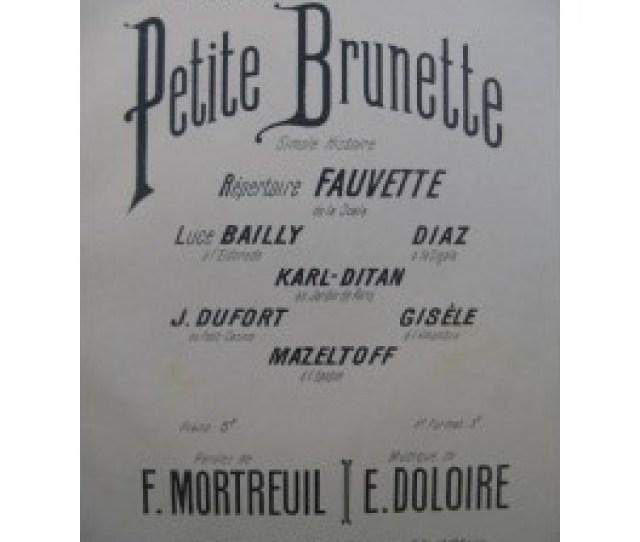 Doloire Em Petite Brunette Chant Piano