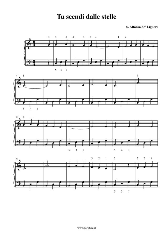 Spartito-Tu-scendi-dalle-stelle-pianoforte-canzone-di-natale-facile-1