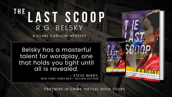 The Last Scoop by R.G. Belsky Banner