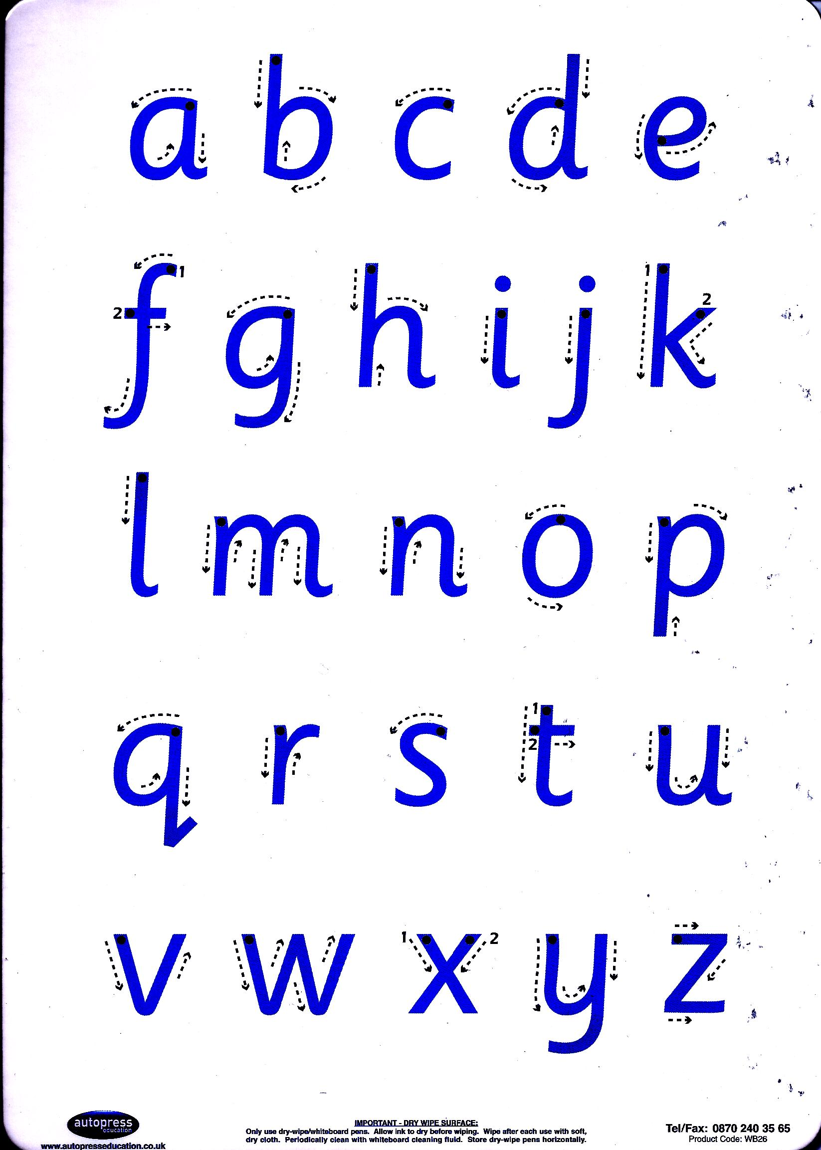 Letter Formation Practice Board