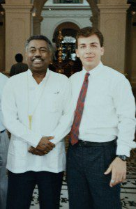 Dr. Peter Ray with Sir Anton Jayasuriya at the Presidential Palace Columbo, Sri Lanka