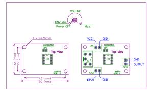 Low Voltage Mono Audio Amplifier Board NJM386D LM386