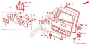 TAILGATE for Honda Cars CRV RVSI 5 Doors 5 speed manual 2005 # HONDA CARS  Genuine Spare