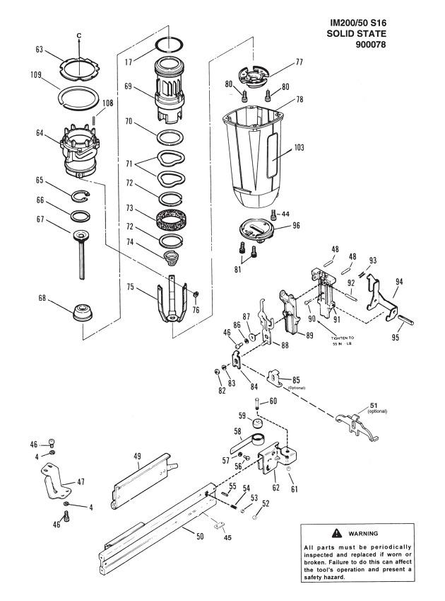 Paslode Impulse Framing Nailer Parts Diagram Reviewmotors Co
