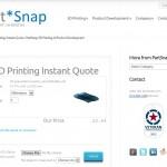 PartSnap 3D Printing Instant Quote Preview - File Upload
