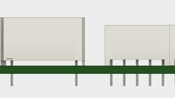 Height difference between the 16-segment and 7-segment LED displays. 7-segment on right.