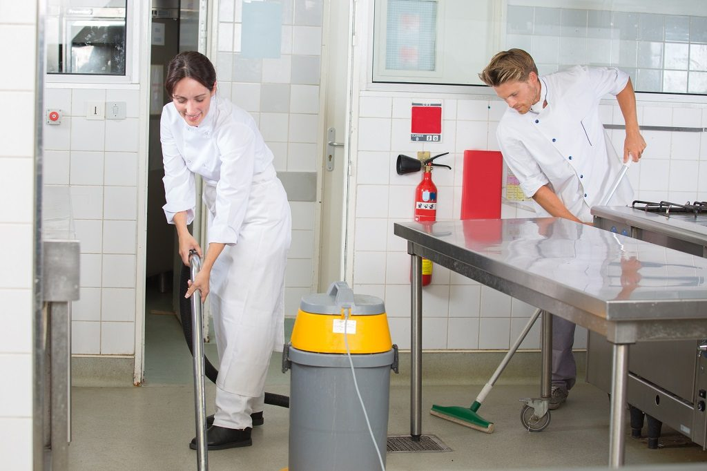 how to clean a commercial kitchen
