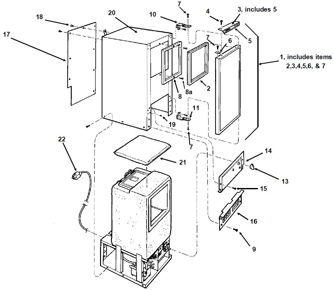 Manitowoc Ice Machine Parts Diagram