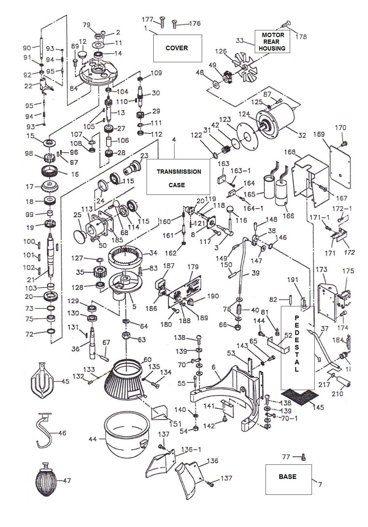 35 Hobart Mixer Parts Diagram