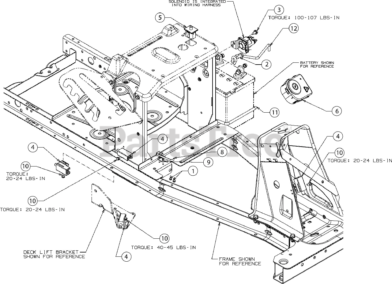Troy Bilt Parts On The Electrical Diagram For Tb 30 R