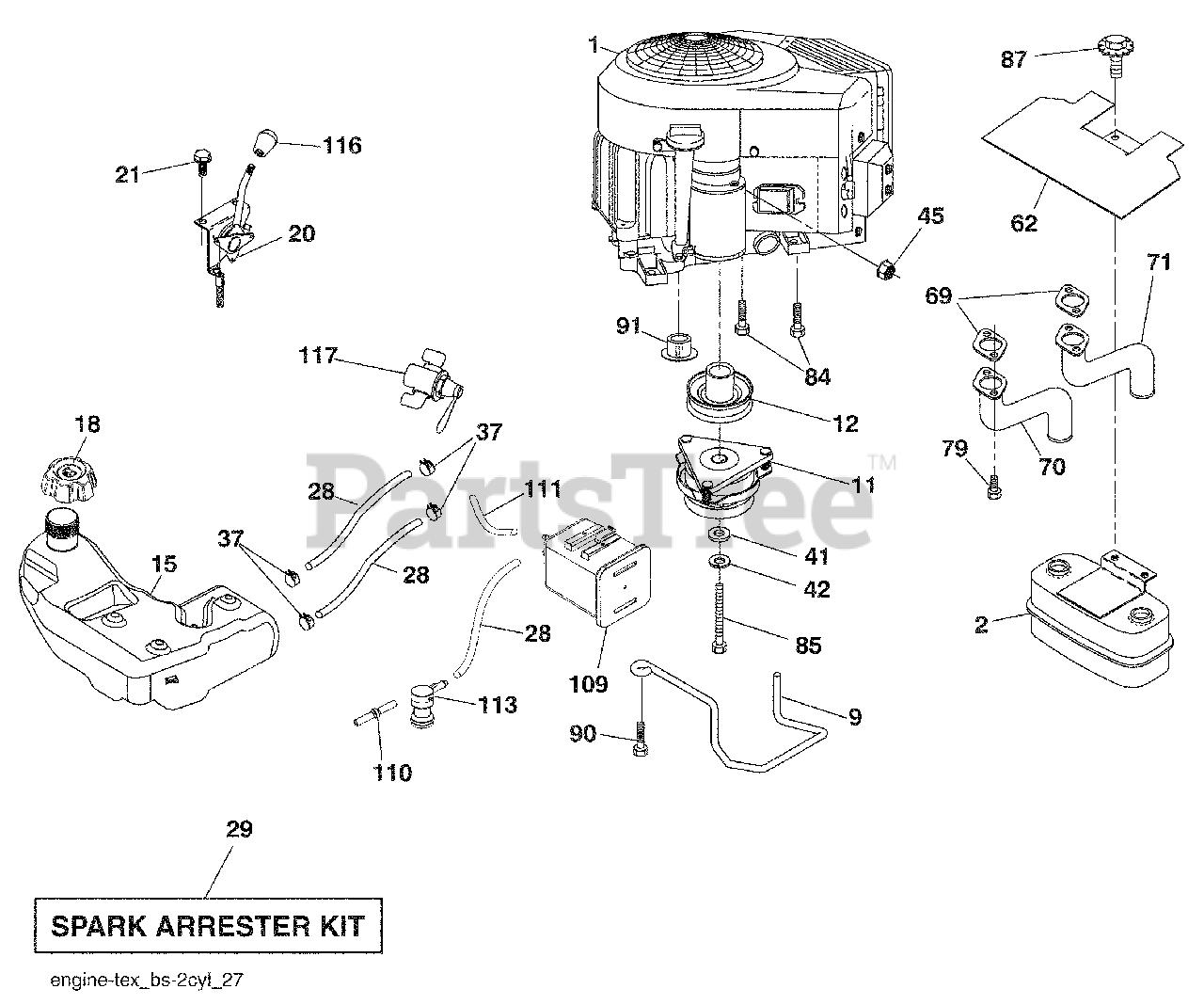 Husqvarna Parts On The Engine Diagram For Gls