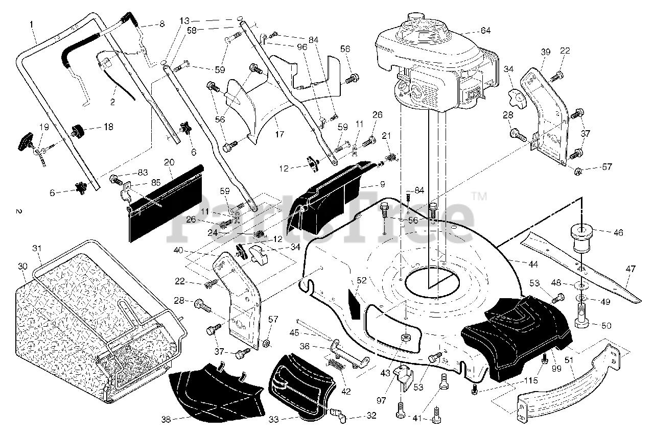 Husqvarna Parts On The Frame Engine Diagram For Hu 700 H