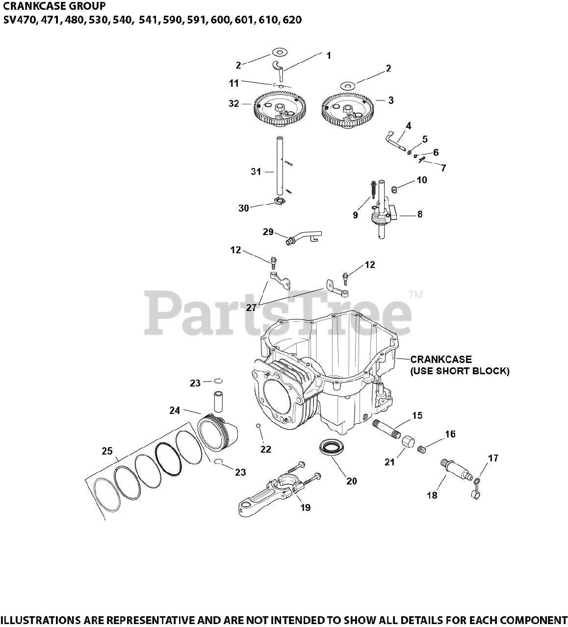 Kohler Parts On The Crankcase Group 2 20 22 Sv470 620