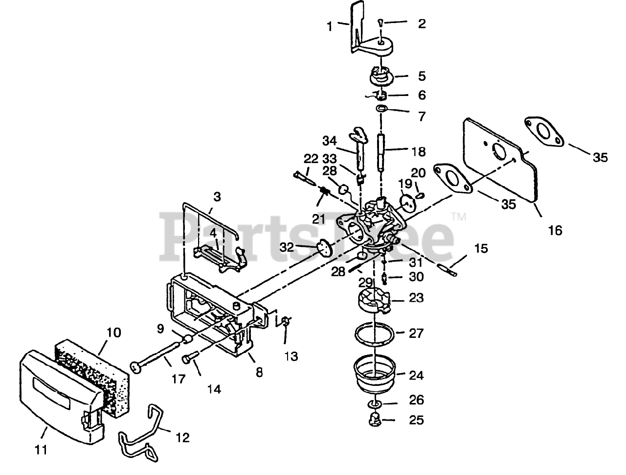 Lawn Boy Parts On The Carburetor Assembly Diagram For
