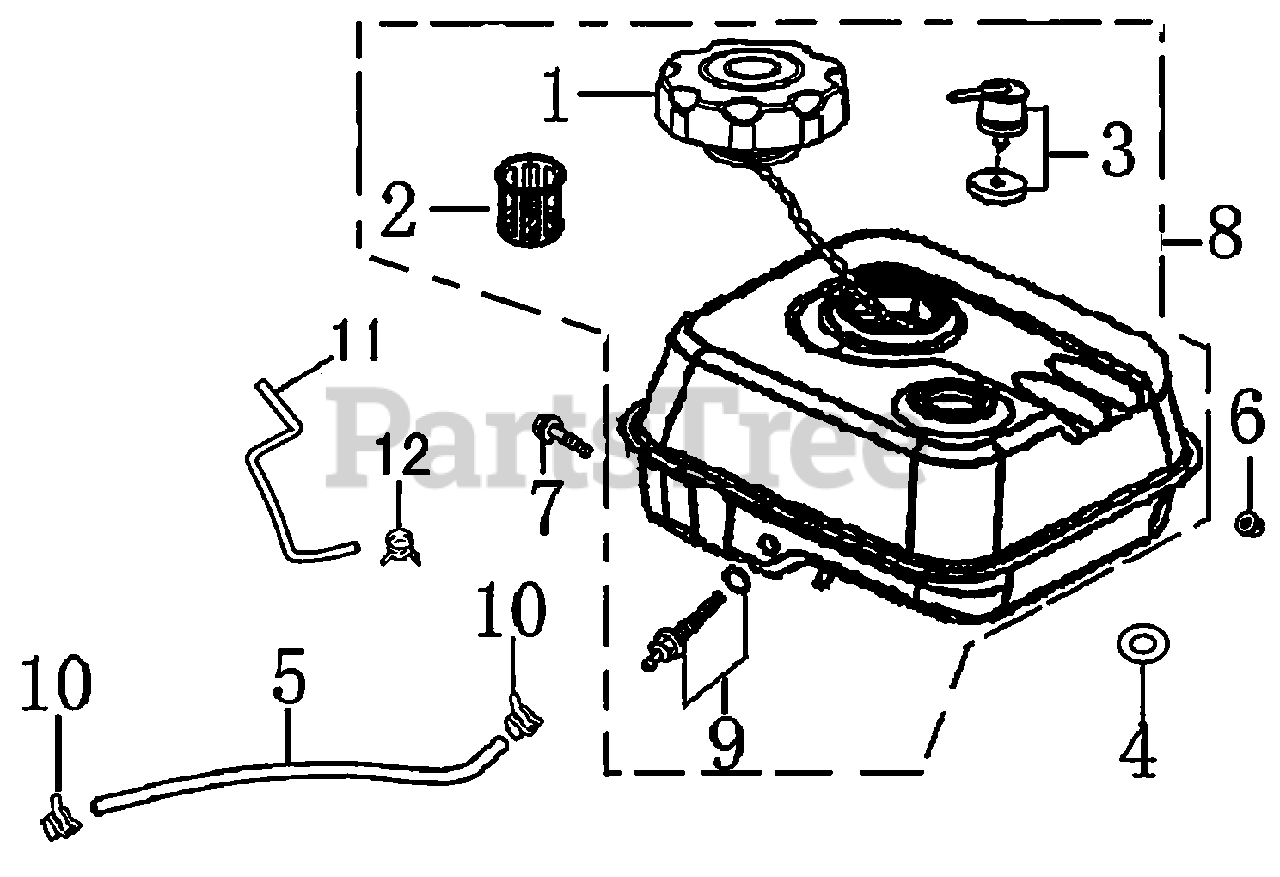 Generac Parts On The Fuel Tank Diagram For