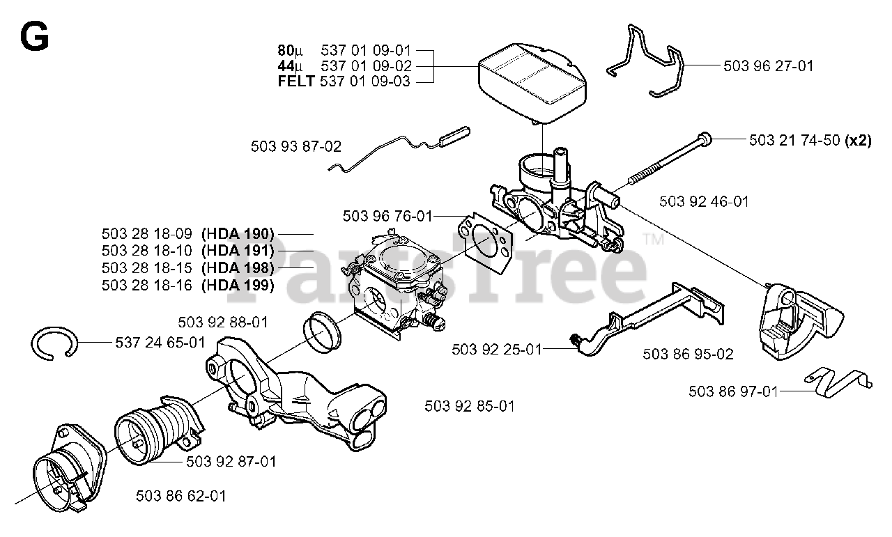 Jonsered Parts On The Carburetor Air Filter Diagram For Cs