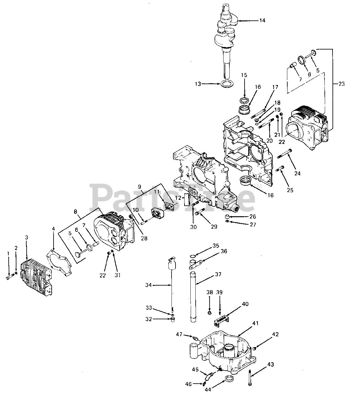 Cub Cadet Garden Tractor Kohler Engine Parts