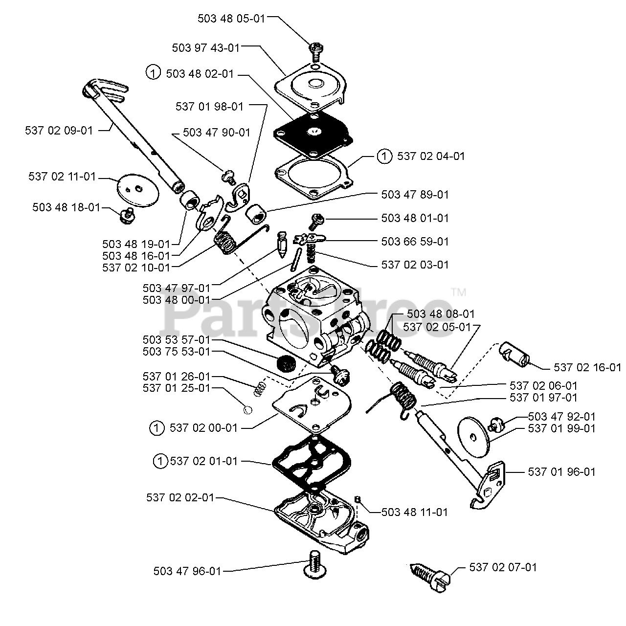 Husqvarna Parts On The Carburetor Assembly Zama C1q El 11