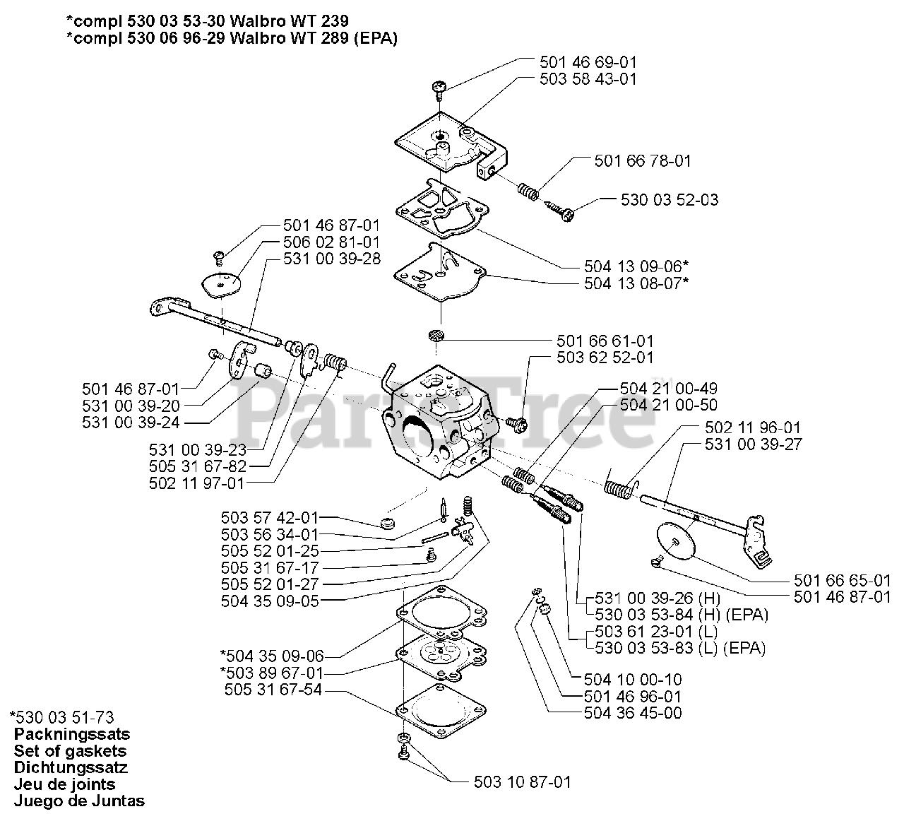Husqvarna Parts On The Carburetor Parts Walbro Wt 239 239