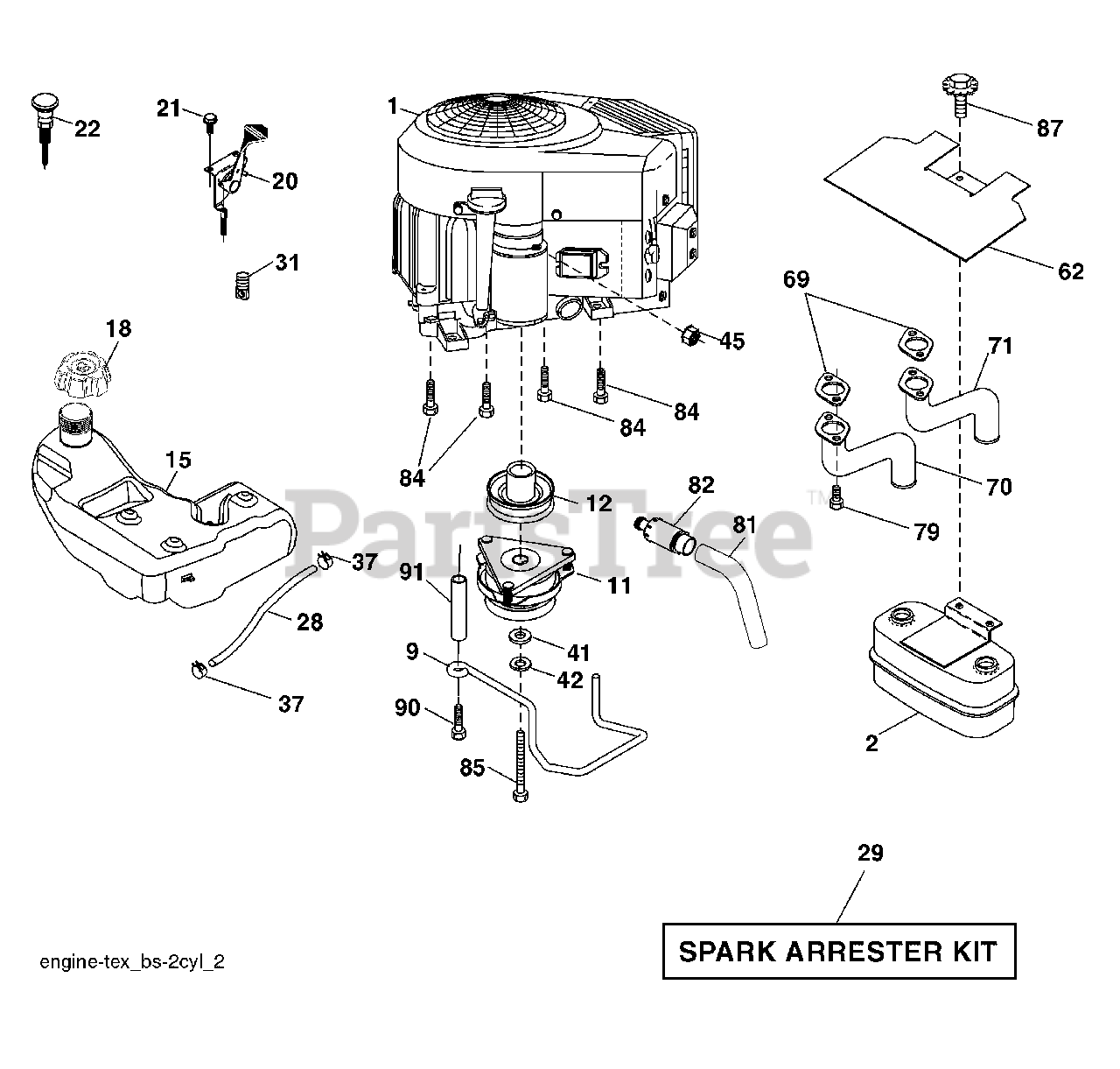Husqvarna Parts On The Engine Diagram For Ls