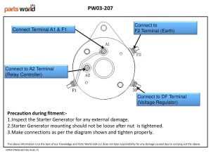 Starter Generator for Club Car, FE350, FE290, Club Car