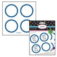 SALE Sticker Candy rund, blau, Ø 5,1 cm, 20 Stk.