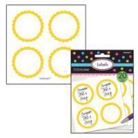 SALE Sticker Candy rund, gelb, Ø 5,1 cm, 20 Stk.