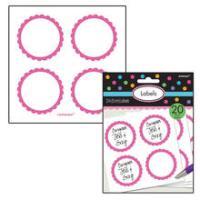 SALE Sticker Candy rund, pink, Ø 5,1 cm, 20 Stk.