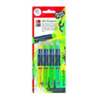 Marabu Art Crayon Wachsstifte-Set Green Jungle