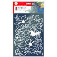 Marabu Art Schablone, A4, Blooming Garden