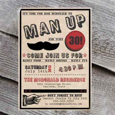 The Best 30th Birthday Invitations By A Professional Party Planner