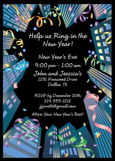 new year celebration invitation email