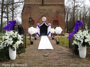 Bruiloft decoratie ballonnen