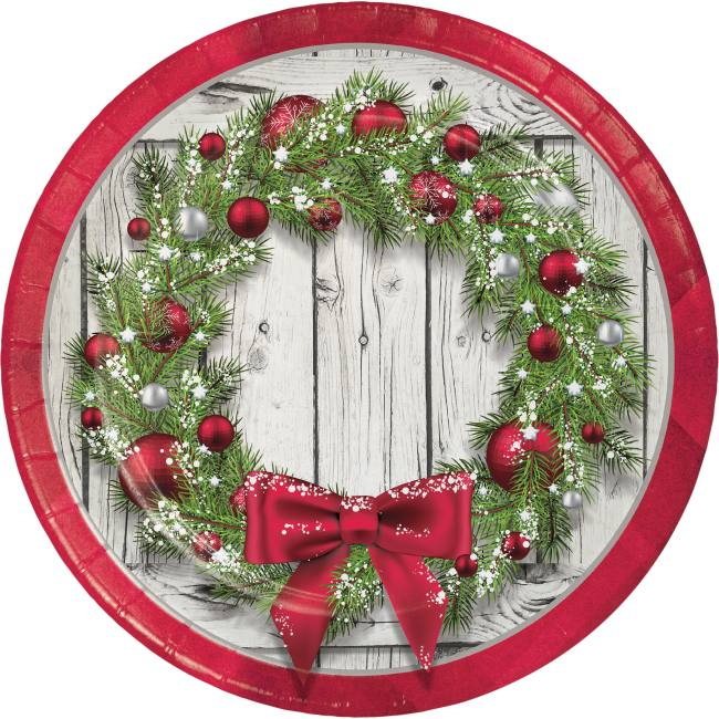Paper Poinsettia Wreath