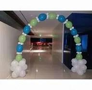 beaded balloon arch