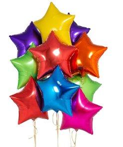 mylar balloon stars
