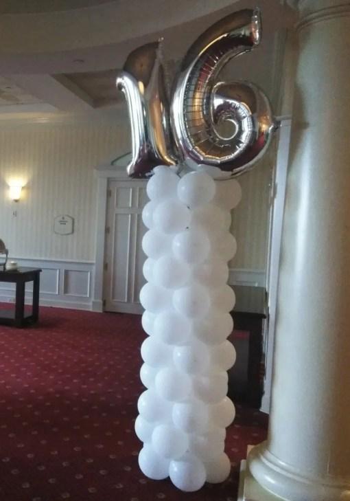 number balloon column