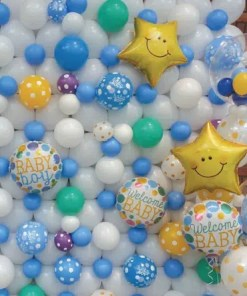 baby boy balloon wall