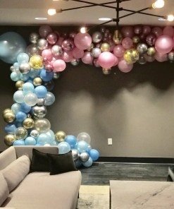 PARTY BALLOONSBYQ GENDER-REVEAL-GARLAND Balloons Fuquay Varina Nc