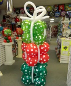 Christmas Present Balloon Column