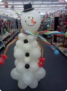 Snowman Balloon Sculpture