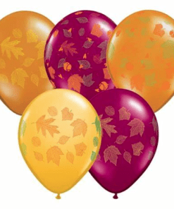 Fall/autumn leaves latex balloons